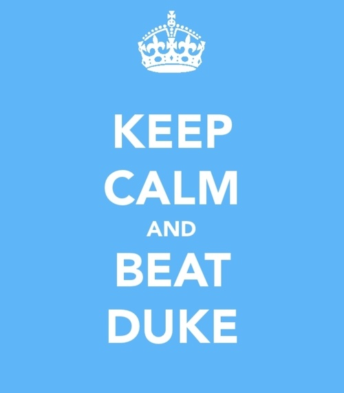 keep calm and beat duke